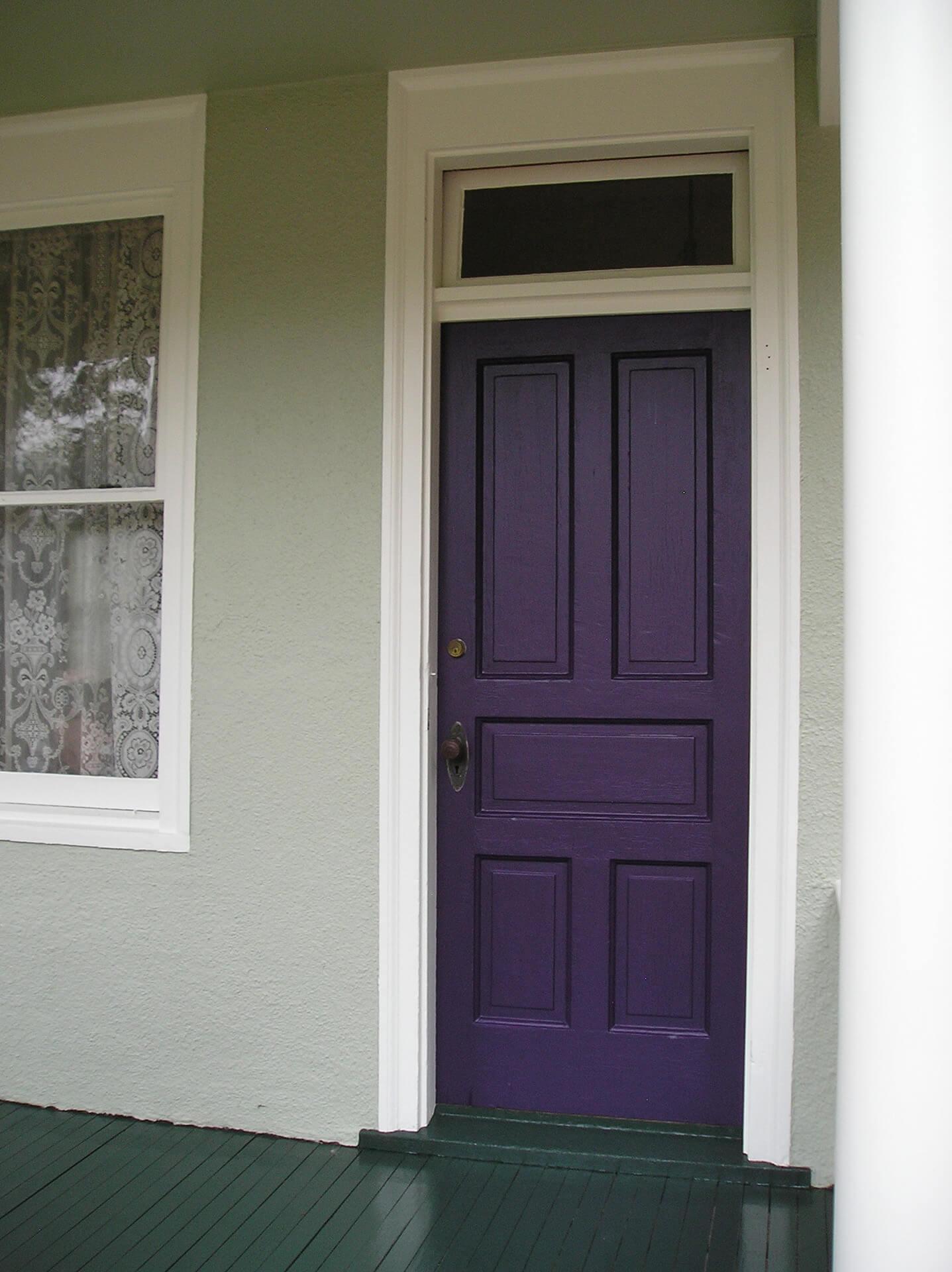 Front Door Painted Purple