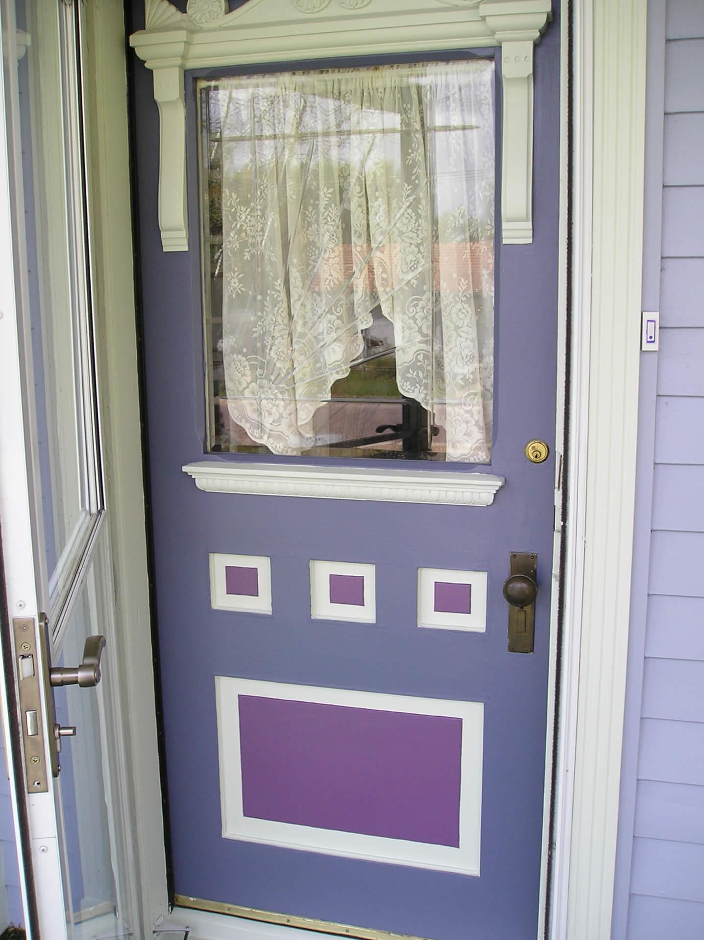 Old Wood Front Door Painted