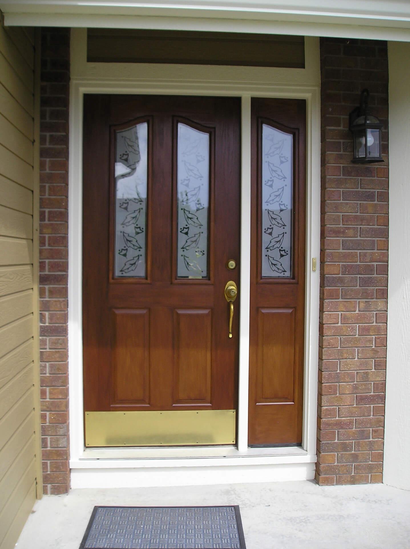 Fiberglass Door Stained