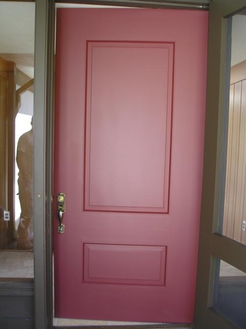 Red Painted Front Door