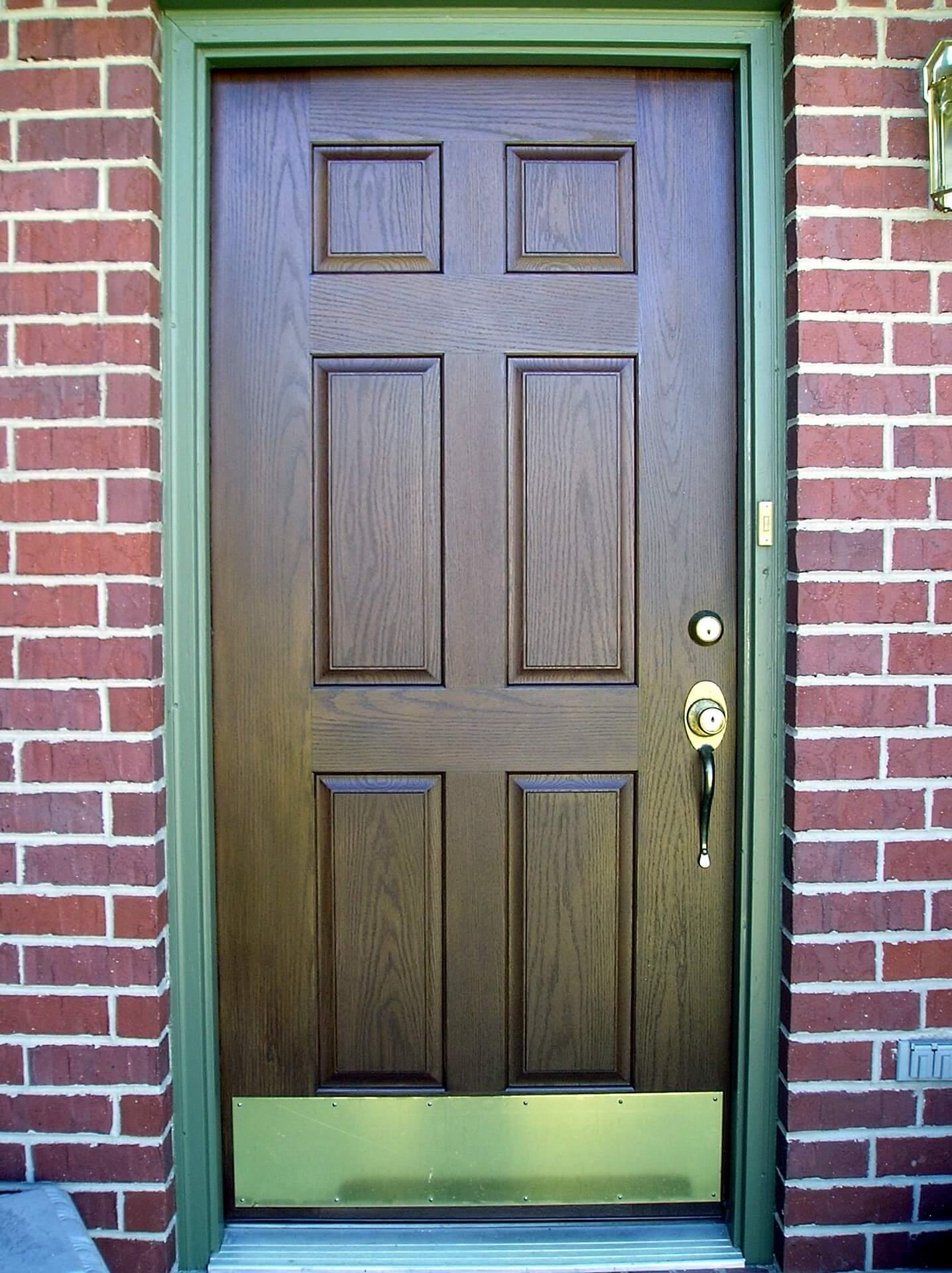 Stained Fiberglass Front Door